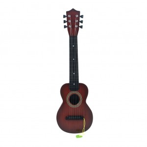 Portable Kid's Toy Guitar with Pick Musical Toy -Dark Brown
