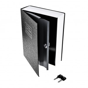 M Size Hidden Safe Dictionary Book Safe with Key Lock - Black