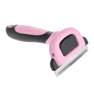 Pet Grooming DeShedding Tool for Medium Dog - Pink
