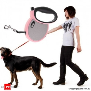 10FT Stylish Retractable Dog Leash for Small and Medium Dog - Pink