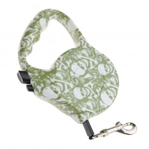 16.5FT Heavy Duty Retractable Dog Leash - Green