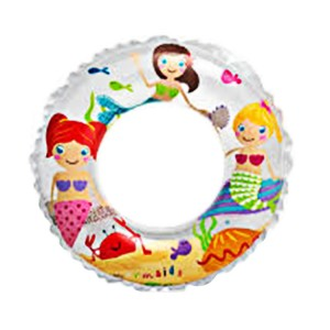 "Intex 24"" Transparent Mermaid Pattern Inflatable Swim Ring"