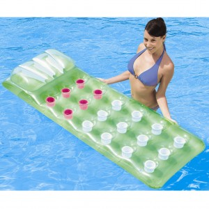Bestway Inflatable 18-Pocket Floating Bed with Double Safety Air Chambers