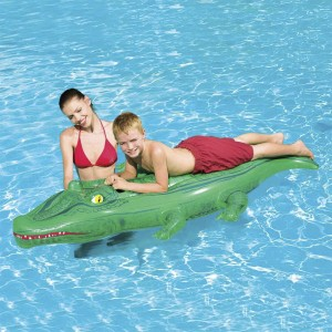 Bestway Inflatable Mattress Crocodile Shaping Swimming Rider