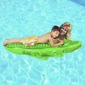 Bestway Inflatable Mattress Crocodile Shaping Swimming Rider - 80 x 46 inches