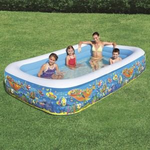 Bestway Cuboid Inflatable Baby Pool with Three Air Chambers