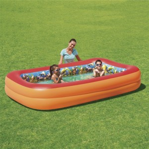 Bestway Cuboid Inflatable Baby Pool with 3D Adventure Pattern