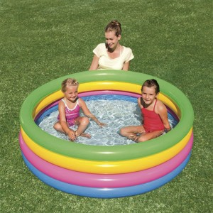 Bestway 522L Inflatable Baby Pool Circular Bath Tub with Four Rings