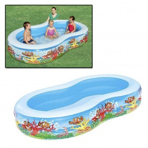 Bestway 8-Shaped Inflatable Baby Pool with Double Air Chambers