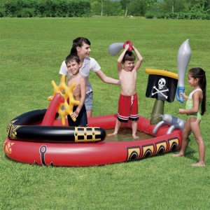 Bestway Pirate Ship Inflatable Paddling Pool Inflatable Baby Play Pool