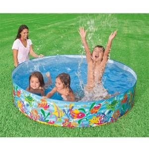 "Intex 977L Inflatable Baby Pool Circular Bath Tub 72"" x 15"""