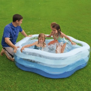 466L Intex Inflatable Plum-blossom Shaping Baby Pool Large Capacity Bath Tub