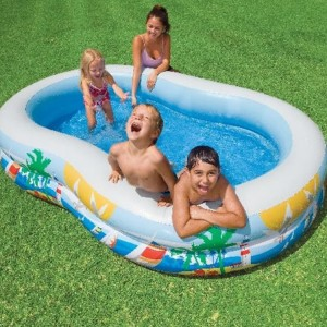 572L Intex 8-Shaped Inflatable Baby Pool with Double Air Chambers