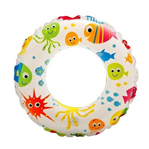 "Intex 24"" Fish Pattern Inflatable Swim Ring"