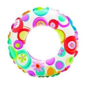 "Intex 24"" Circle Pattern Inflatable Swim Ring"