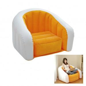 Intex U-shaped Inflatable Sofa Flocking Single Couch