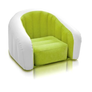 Intex Inflatable Sofa Flocking Single Couch Waterproof - Green White