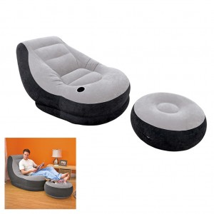Intex Inflatable Sofa Flocking Single Couch with An Ottoman Furniture Living Room
