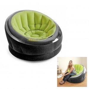 Intex Waterproof Flocked Empire Inflatable Chair PVC Synthetic Fiber - Green