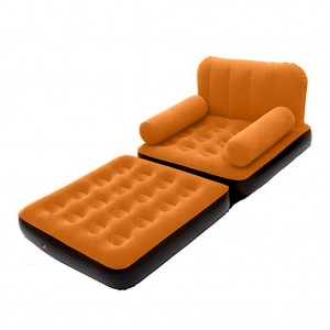 Bestway 2 in 1 Flocking Inflatable Sofa