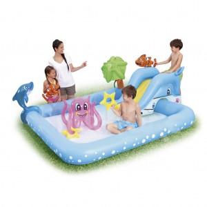 Bestway Inflatable Baby Pool with Sprayer Aquarium Play Bath Tub