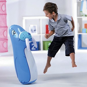 Bestway Dolphin-shaped Roly-poly Inflatable Toy with Punch Bop Bag