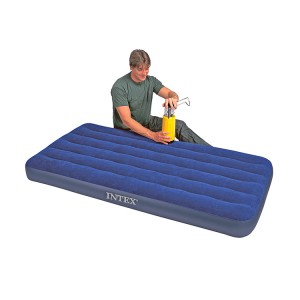 "Intex Inflatable Air Mattress Downy Single Air Bed 75"" x 39"" x 8.7"" Waterproof"