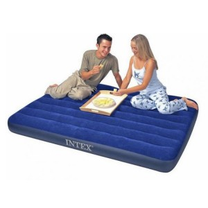 "Intex 75"" x 54"" x 8.7"" Inflatable Air Mattress Downy Double Air Bed"