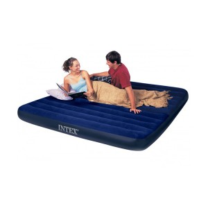 "Intex 80"" x 60"" x 8.7"" Inflatable Air Mattress Downy Double Plus Air Bed Waterproof"