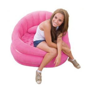 Intex Inflatable Sofa Flocking Single Couch PVC Flocked - Pink