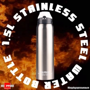 1.5L Stainless Steel Vacuum Insulated Water Bottle BPA-free