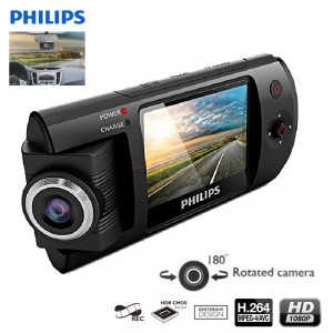 Philips CVR300 Full HD 1080P 180° Rotation Car Dash DVR Recorder Camera