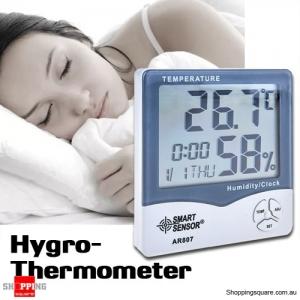 Digital LCD Hygrometer Thermometer Alarm Clock Calendar