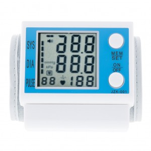 LCD Digital Wrist Blood Pressure Monitor Irregular Heartbeat Detector
