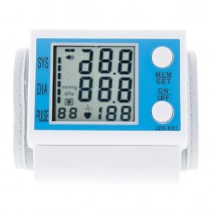 LCD Digital Wrist Blood Pressure Monitor Irregular Heartbeat Detector