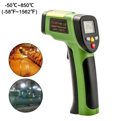 FLANK F-850 Digital Non-Contact Infrared Temperature Thermometer Supported -50℃~850℃