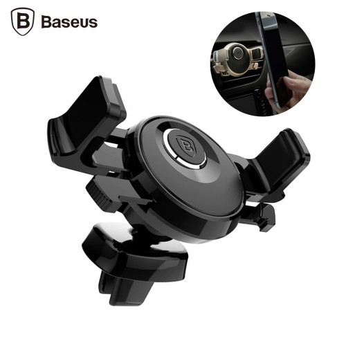 Baseus Car Auto Air Vent Phone Clip Holder Stand 360 Degree Rotation Black Colour