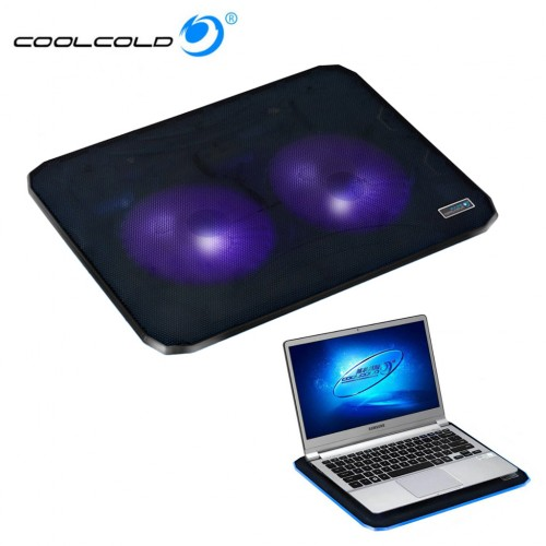 USB CoolCold Ice 2 Cooling Pad Fan Cooler For Laptop Notebook