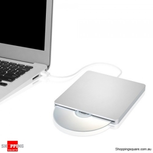 Ultra-Slim Portable External DVD RW Burner Drive USB 2.0