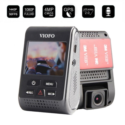 VIOFO A119 V2 1440P HD Car Dash DVR Camera with GPS Module