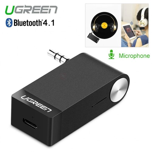 Ugreen MM114 Car Bluetooth 3.5mm Audio Adapter Music Receiver w/ Mic