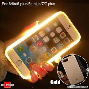 Luminous LED Light Up Flash Selfie Case for Apple iPhone 7 Plus Gold Colour