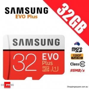 Samsung EVO Plus 32GB micro SD SDHC Memory Card UHS-I U1 95MB/s Full HD