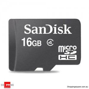 Sandisk 16GB microSDHC Memory Card Class 4 SDSDQM (Retail Pack)