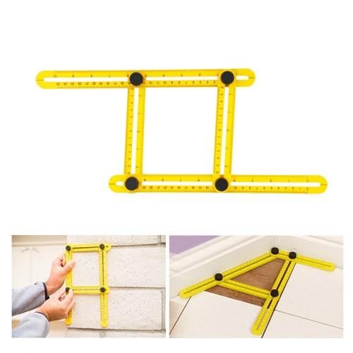 multi angle ruler template measurement tool with mechanism sliders