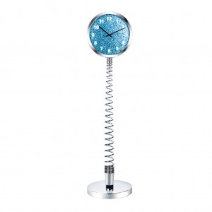 Modern Metal Spring Table & Floor Clock XXXL Size for Home Office