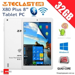 "Teclast X80 Plus 8"" 32GB/2GB Dual Boot Windows 10 Android 5.1 Quad Core Tablet PC"