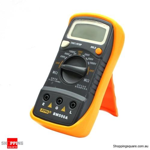 Insulation Resistance Tester : Digital insulation resistance tester bm a v m