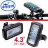 WaterProof Motorcycle Bike Handlebar Mount Case For Phone GPS 4.3 Inch