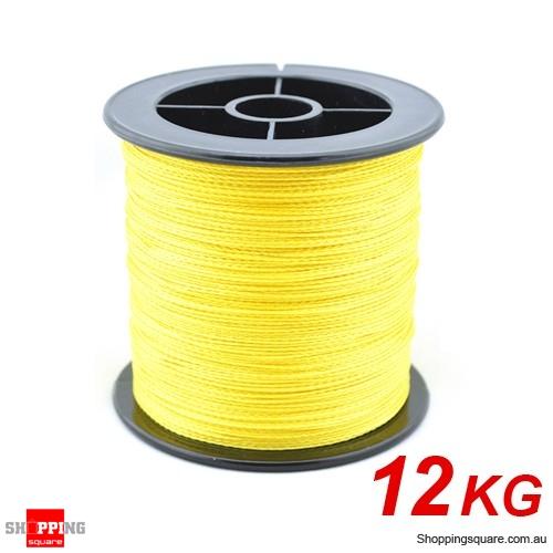 12kg 1000m braid dyneema spectra pe braided fishing line for Cheap braided fishing line